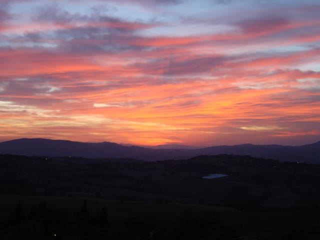 Superb views from house of Barchi's incredible sunset