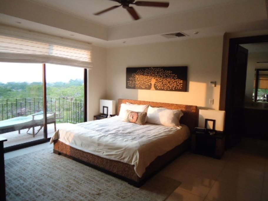 Master Bedroom with private Terrace and oversized bathroom with Shower + jacuzzi tub.