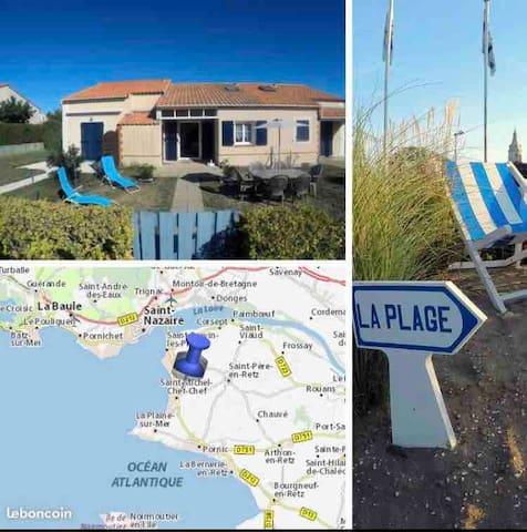Maison CLEMENT proche bord de mer/plages/piscines