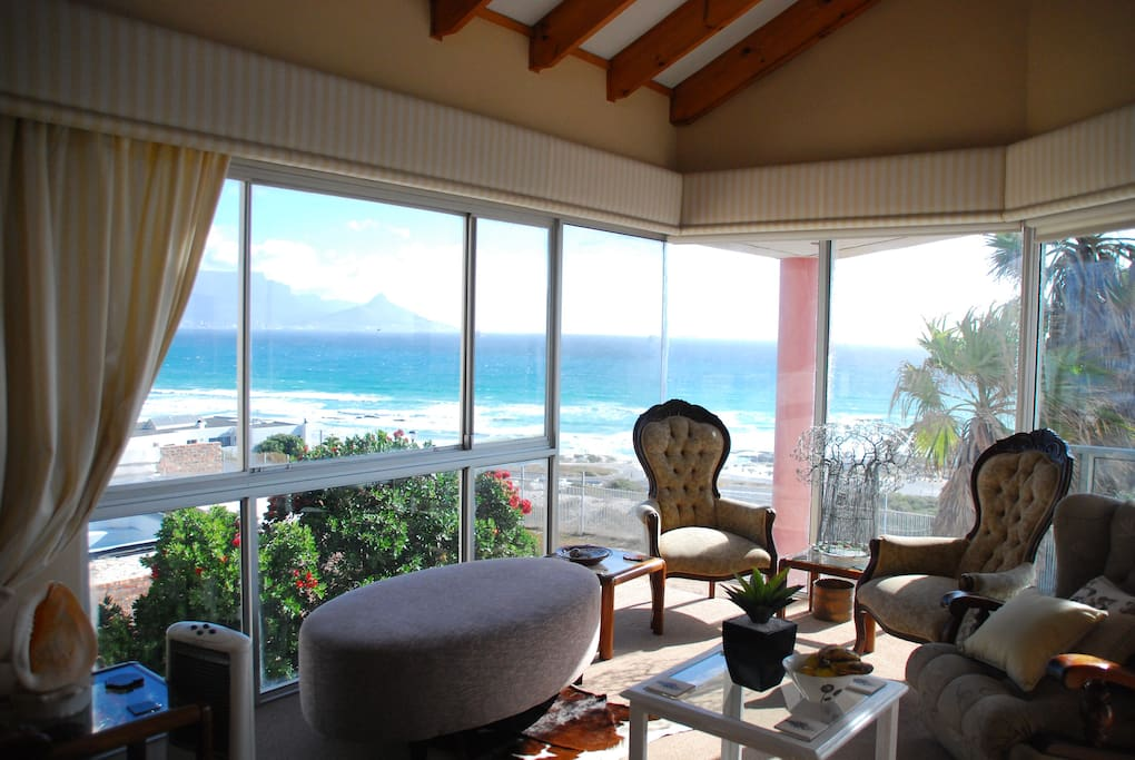 Watch the waves roll by and listen to soothing music in the private lounge area for guests only