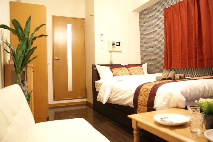 Luxury Style☆Next to Namba Sta(OCAT)+2Bd for 3ppl - Osaka-shi
