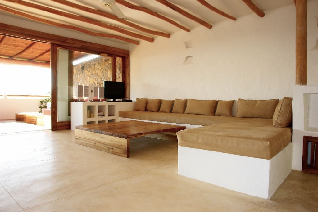 The interior sofa, too hot outside go inside the villa is always fresh