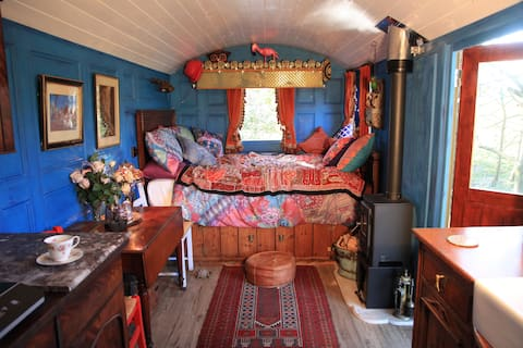 """The Bohemian Blue Hut """"down by the river"""""""