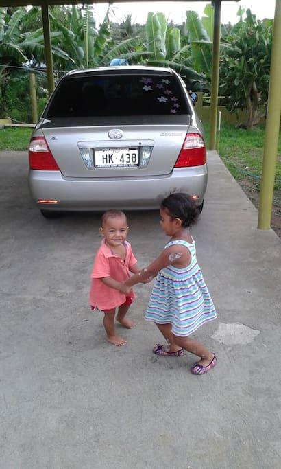 Elizabeth and Emmanuel - your little Fijian hosts