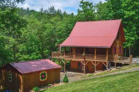 BeaverHill Creek Log Cabin Listen to Rushing Creek