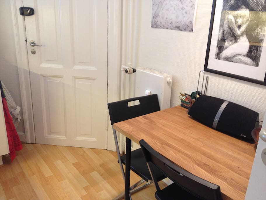 The Kitchen with a small dining-table