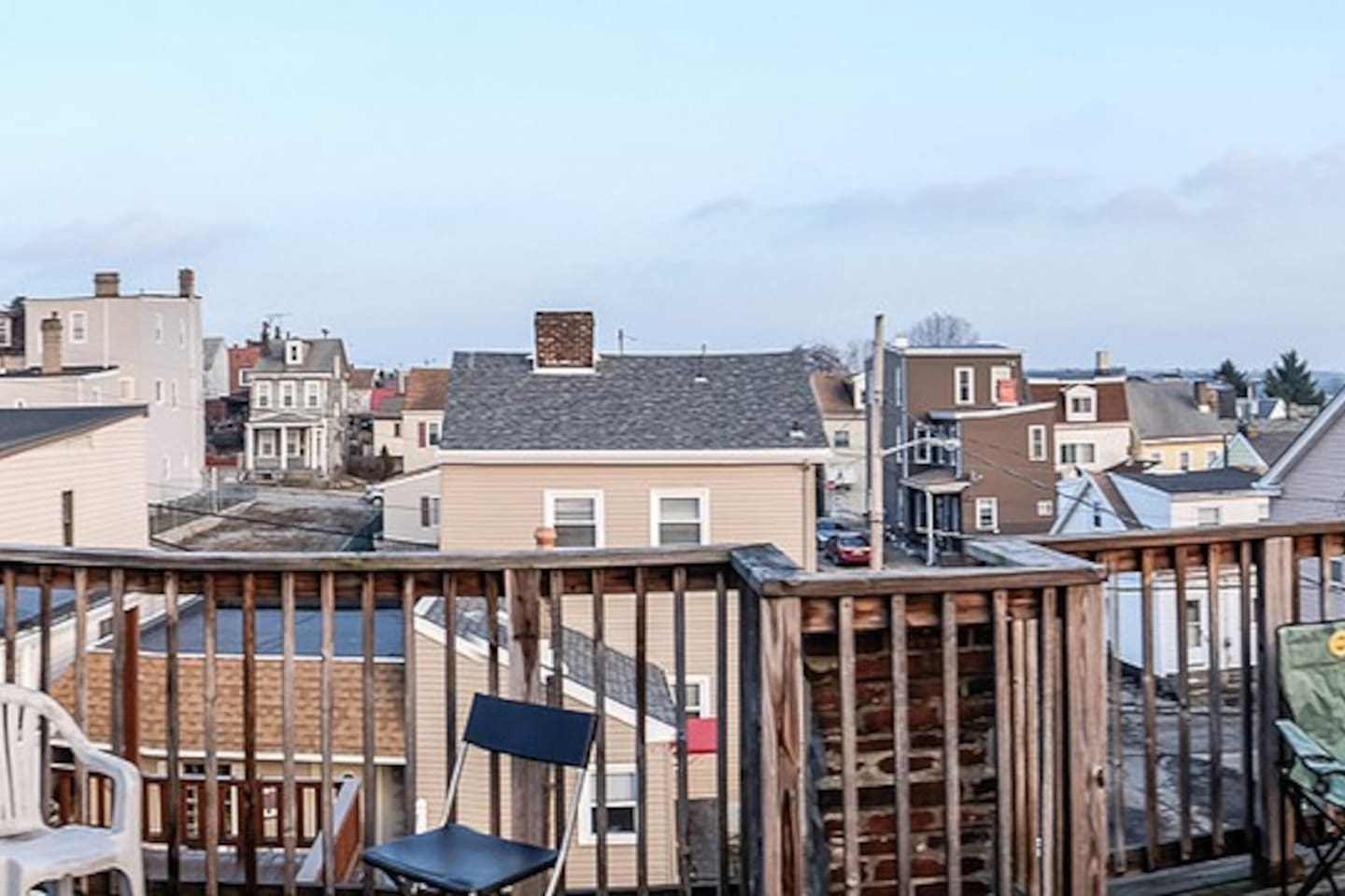 Panorama of view from the rooftop