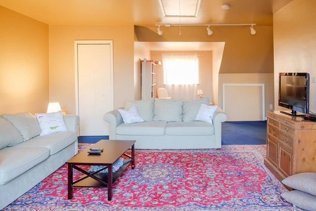 Large living room on third floor