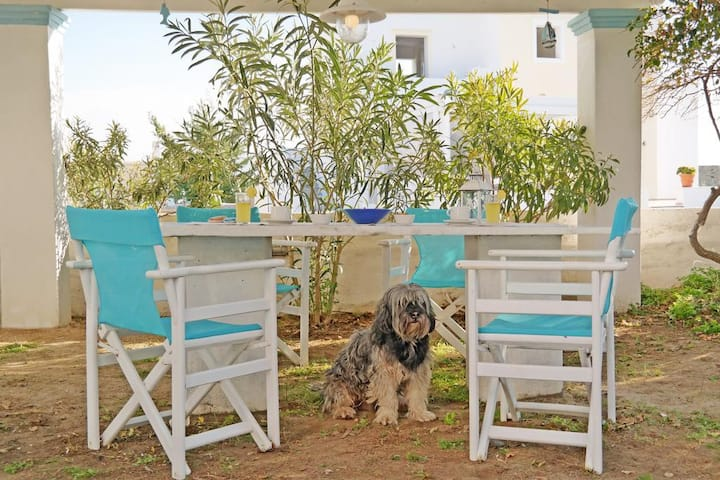 Naxos Sandy Beach - Seaside Garden Retreat