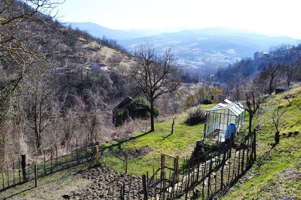 Coltivare un orto privato, o, semplicemente, godere dei suoi frutti. (Borgotaro)