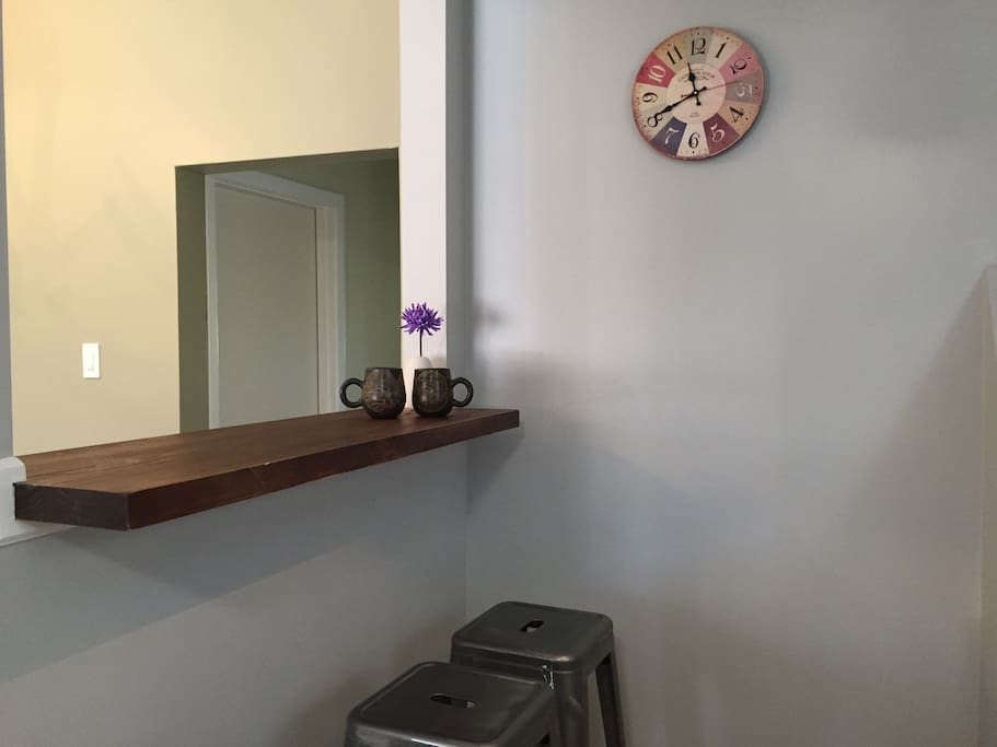 Bar table over look outside TV