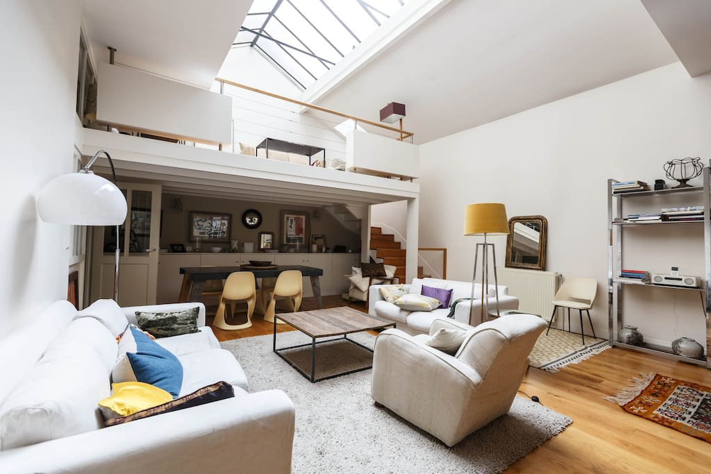 Family loft 10 39 39 from montmartre appartements louer paris le - Achat loft ile de france ...