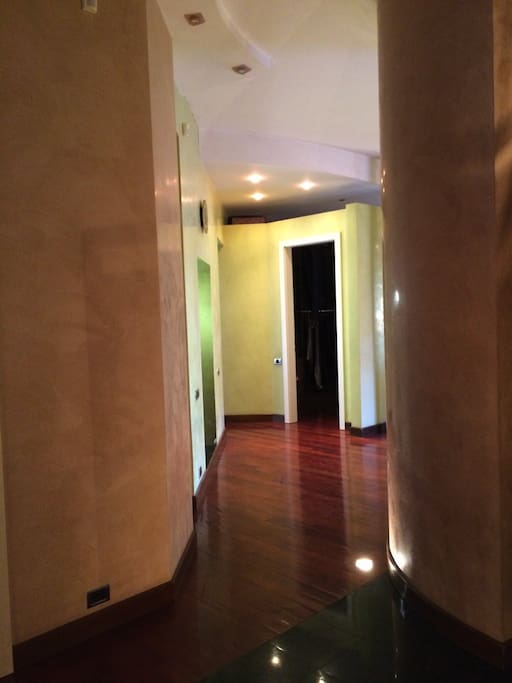 Corridor to the main part of the apartment.