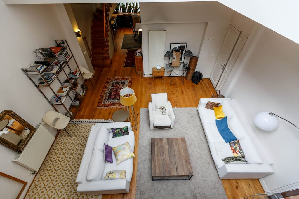 Living room (view from the mezzanine )