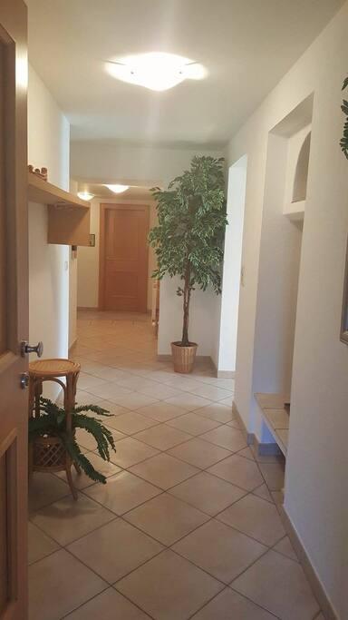Light spacious entrance way into Blue Apartment
