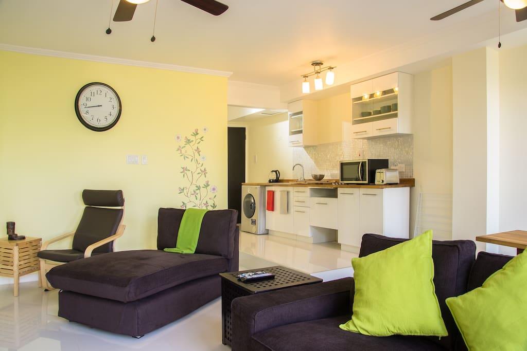 Garden apartment open plan living/kitchen/diner