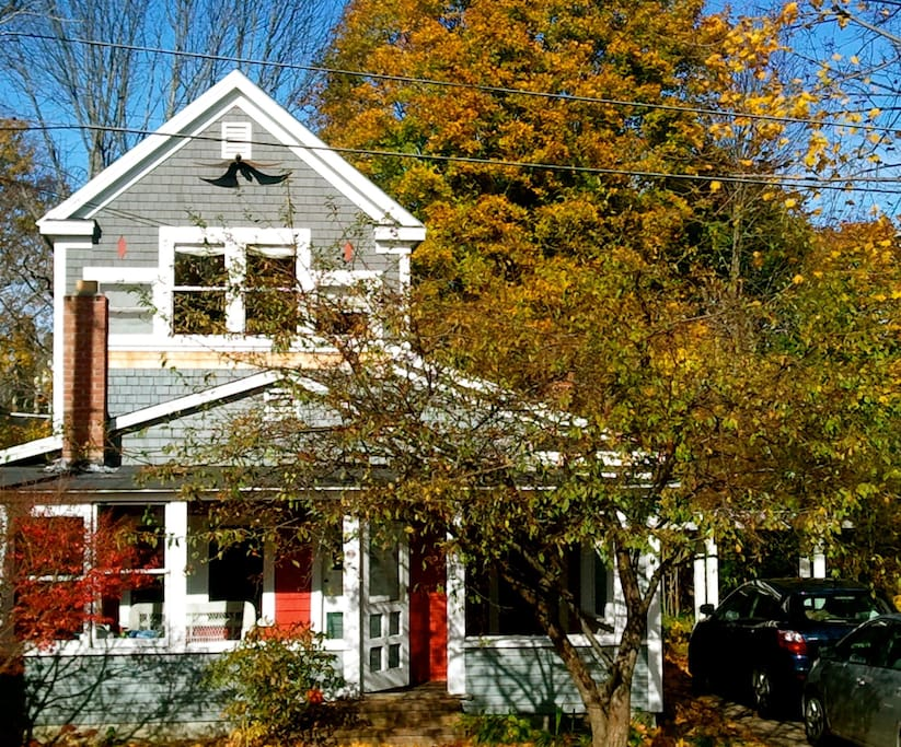Front of the house on a Fall day.
