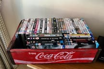 Full Sky package including films & sports but also DVDs and blurays to watch