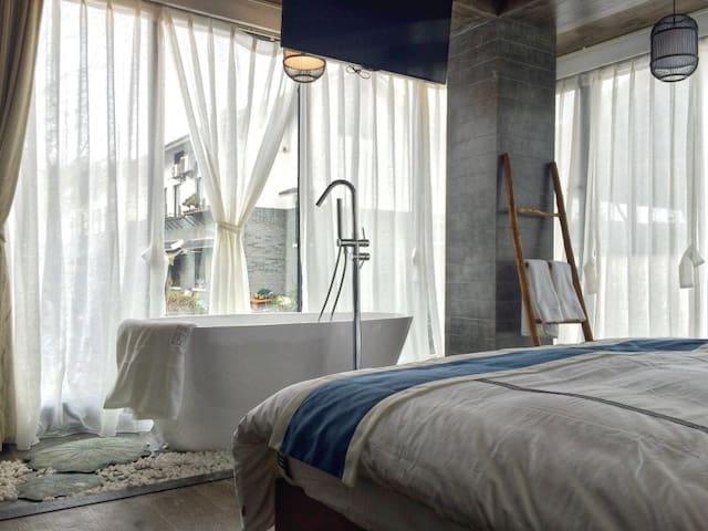 乐竺乐筑全景玻璃风景房,灵隐寺步行路程的家,聆听穿越千年的悠远钟鸣 - 杭州 - Villa