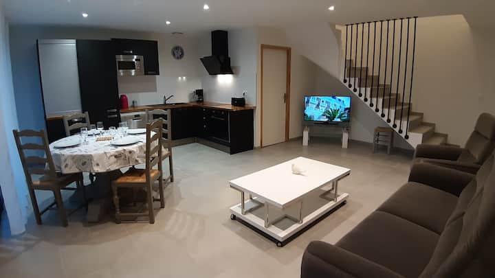 Gîte climatisé 4 pers/3 chambres/Paris/Roissy CDG