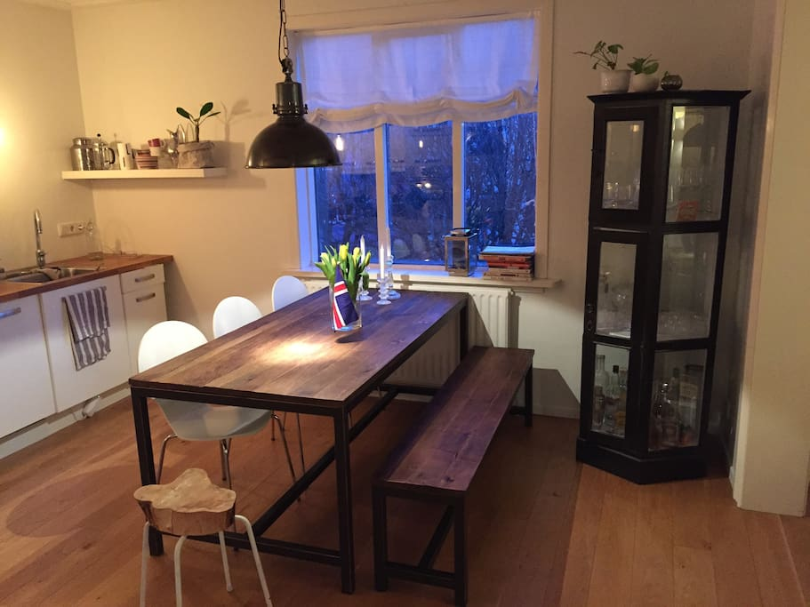 Kitchen table by window