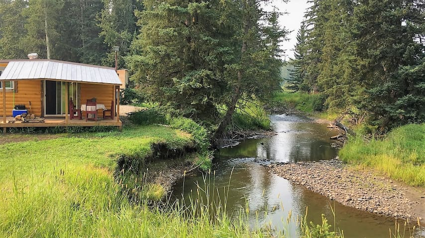 Rustic Log Cabin on the River