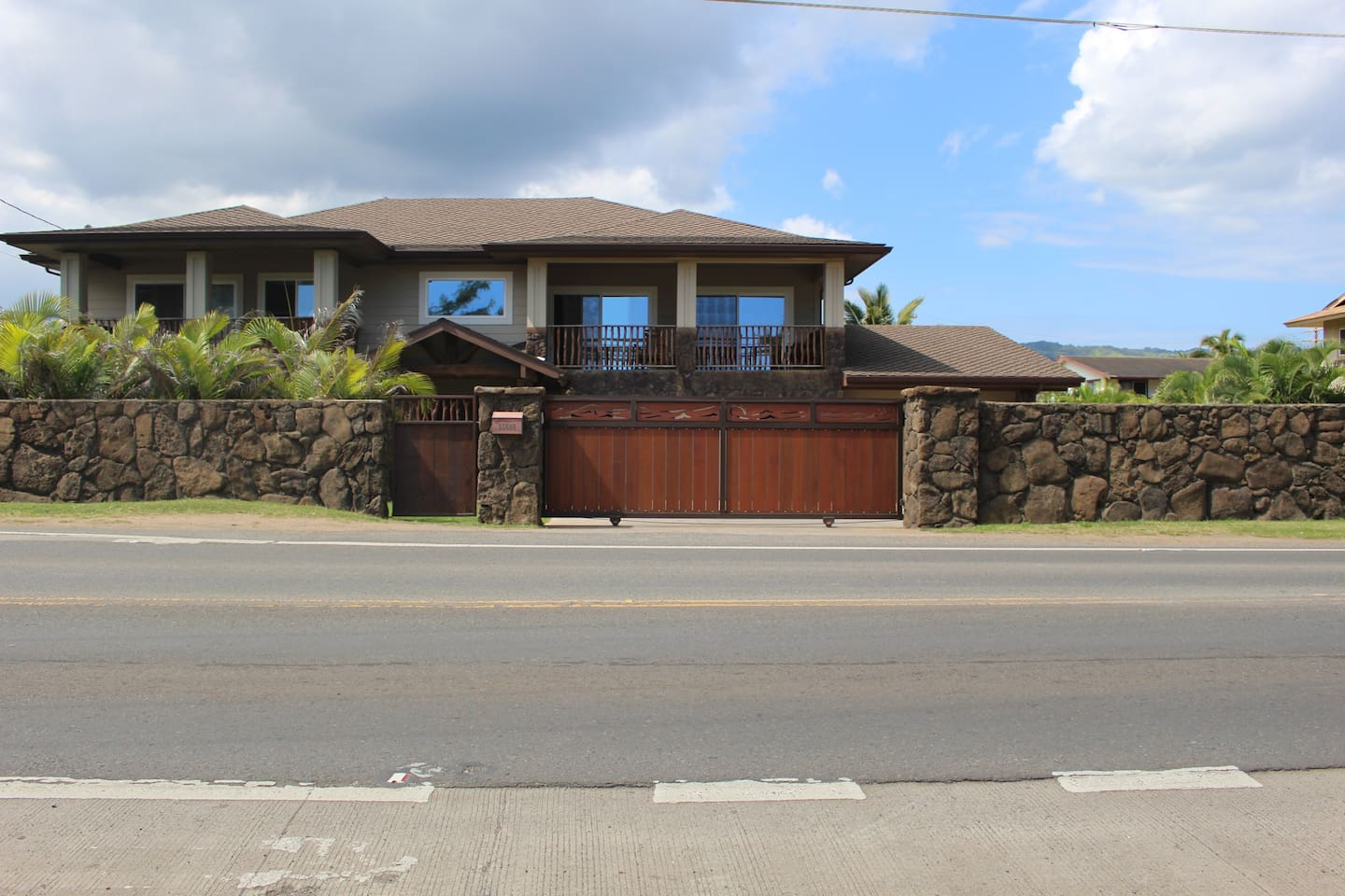 View of the home, directly across from Hukilau Beach