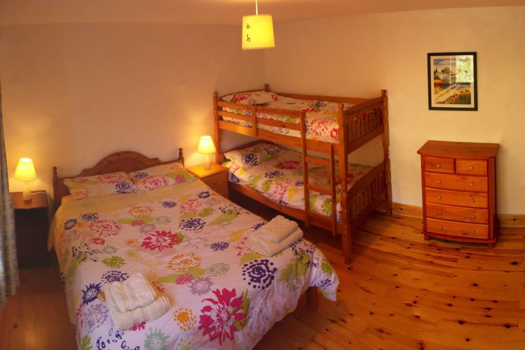 Family Room - 1 double & 1 set of bunk beds