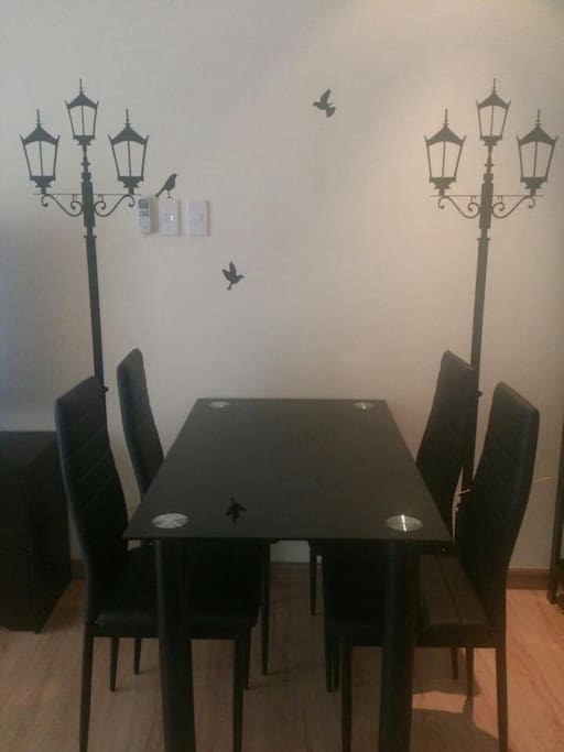 Dining Area Table sitting for 4 person