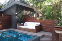 pool, spa, daybed and outdoor shower. Shared with main house