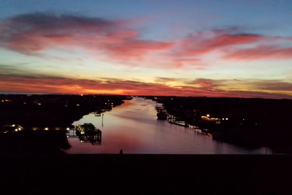 A beautiful sunset from the island access bridge!