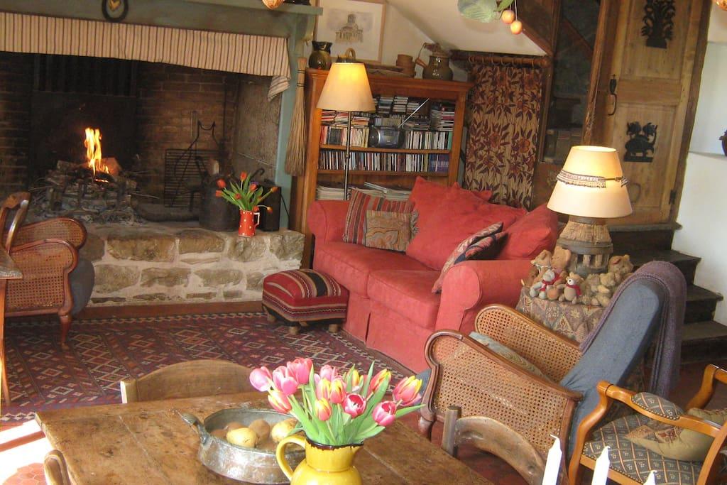 Open hearth/living room