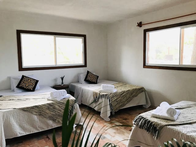 Habitacion 3 en hermosa casa de campo en Tamasopo