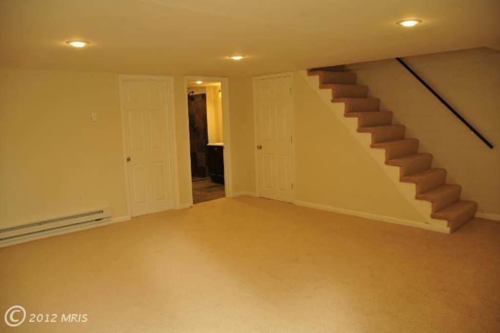 feel the need to do some exercising or yoga..the basement is all yours!