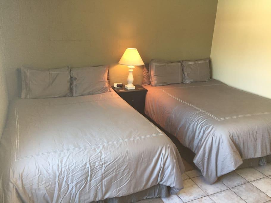 Second bedroom with 2 queen beds