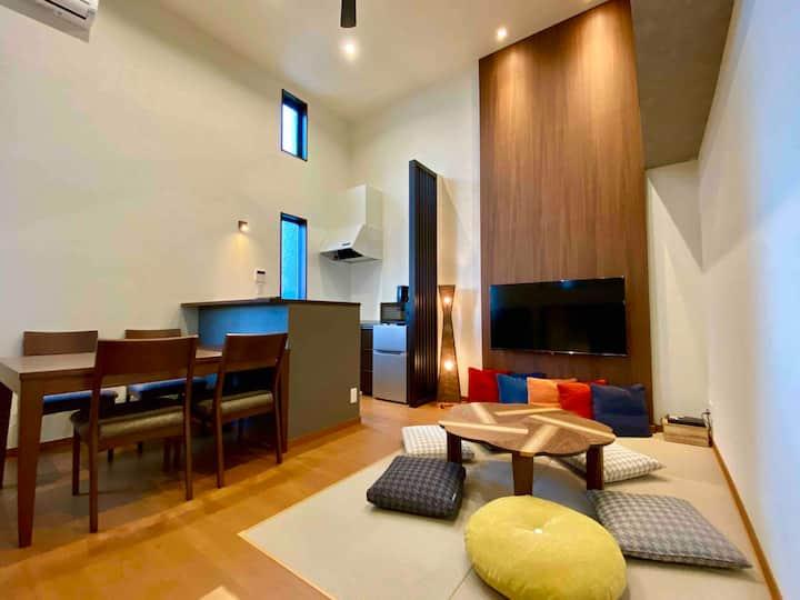熊本駅 103号☆[6人まで同じ料金]新築!アパートメントホテルでオシャレに楽しく♪