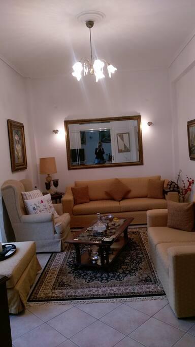 living room winter mood