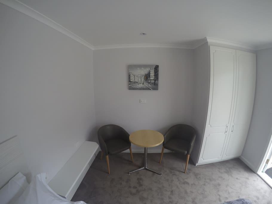sitting/work area