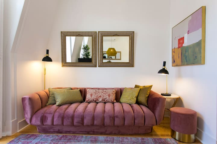 Comfortable sofa in the living area