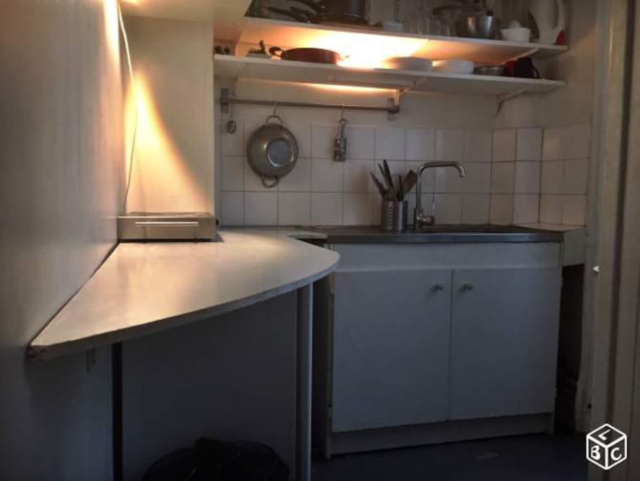 Kitchen (with microwave, hotplates, fridge, multicooker)