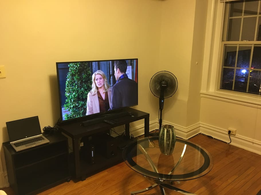 """55"""" HD Smart TV + Spare Laptop for guests"""