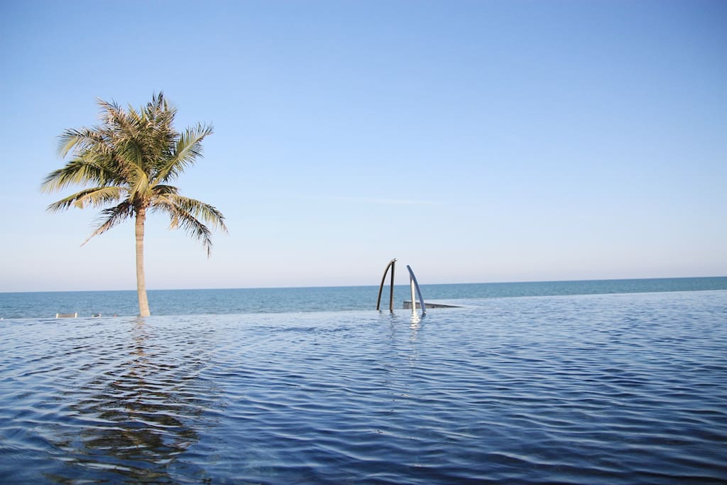 Infinity pool of the condominium. (one of 8 swimming pool you can join)