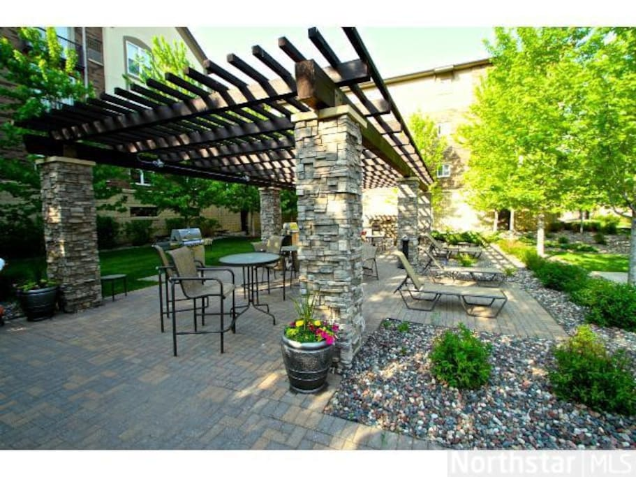 Outdoor Patio with Gas Grills