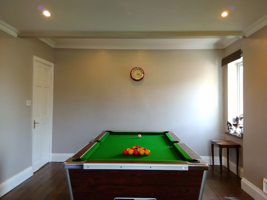 Complimentary Pool Table use included - subject to availability