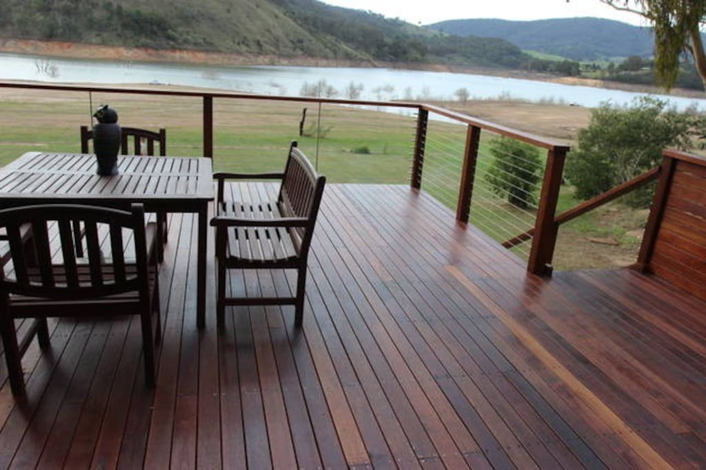 Relax on the large deck