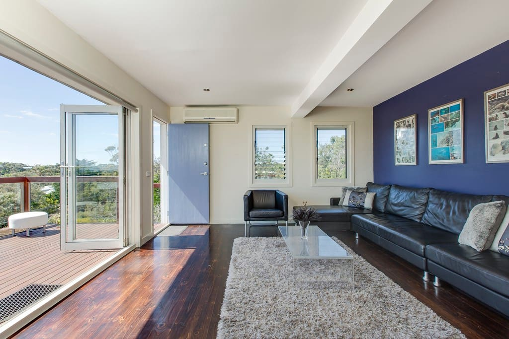 Enjoy the views with bifold doors open to balcony