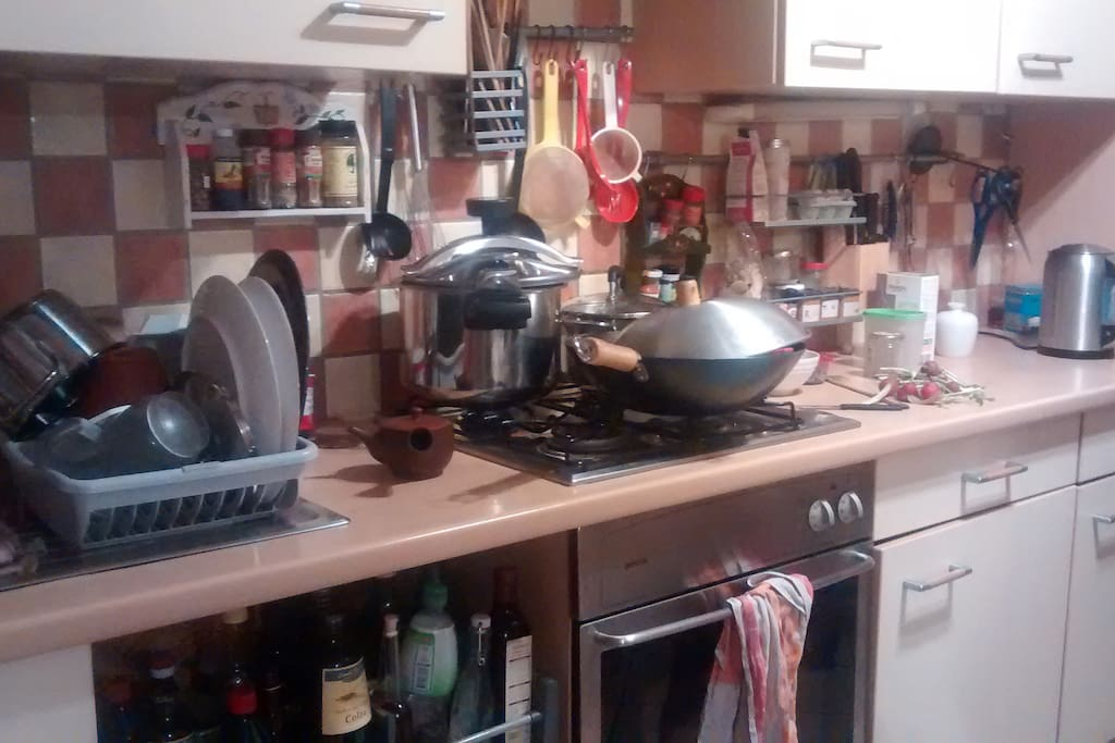 full equipped kitchen available for use