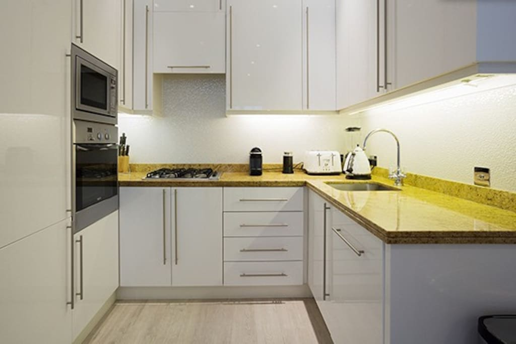 Fully fitted modern kitchen with all necessary appliances