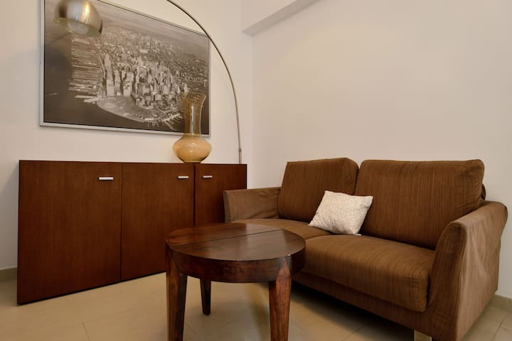 Spacious Living room with nice furniture equipped.