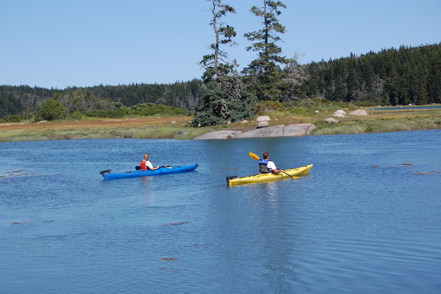 Kayaking in the basin nearby